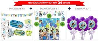 Party Pups Tableware Ultimate Kit for 24 Guests