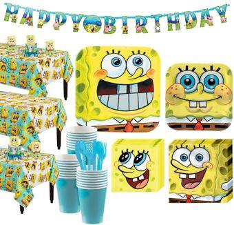 SpongeBob Tableware Party Kit for 24 Guests