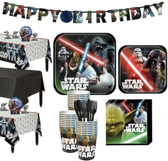 Star Wars Tableware Party Kit for 24 Guests