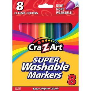 Cra-Z-Art Classic Super Washable Broadline Markers 8ct
