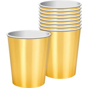 Metallic Gold Cups 8ct