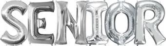 Giant Silver Senior Letter Balloon Kit