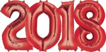 Giant Red 2018 Number Balloon Kit
