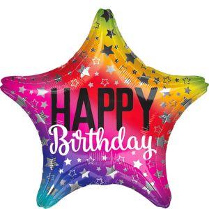 Rainbow Star Birthday Balloon