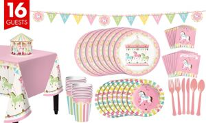 Carousel Baby Shower Kit 16 Guests