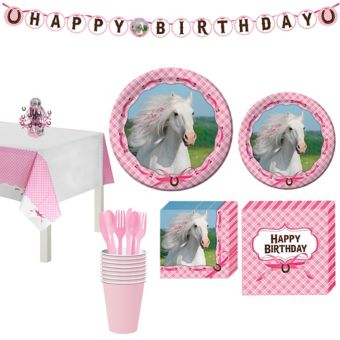 Heart My Horse Tableware Party Kit for 8 Guests