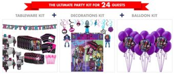 Monster High Tableware Ultimate Kit for 24 Guests