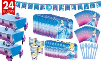 Cinderella Tableware Party Kit for 24 Guests