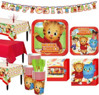 Daniel Tiger Tableware Party Kit for 24 Guests