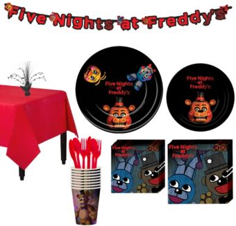 Five Nights at Freddy's Tableware Party Kit for 8 Guests