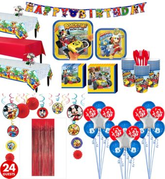 Mickey Mouse Roadster Tableware Ultimate Kit for 24 Guests