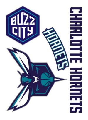 Charlotte Hornets Decals 5ct