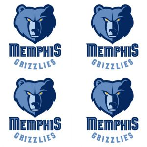 Memphis Grizzlies Face Tattoos 4ct