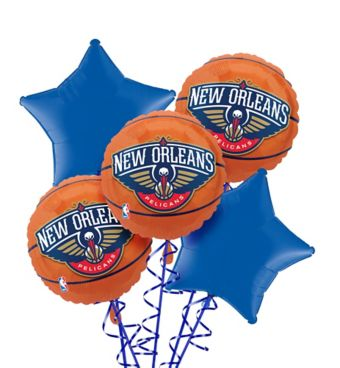 New Orleans Pelicans Balloon Bouquet 5pc