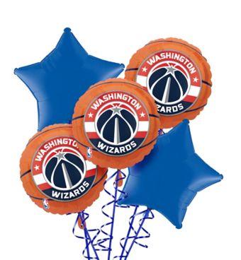 Washington Wizards Balloon Bouquet 5pc