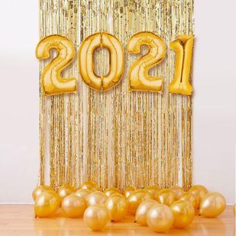 Black New Year's 2018 Balloon Backdrop Kit
