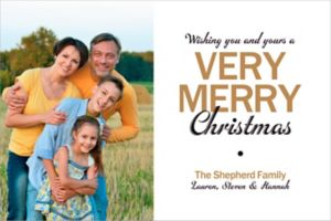 Custom Very Merry Christmas Photo Cards