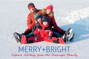 Custom Merry and Bright Photo Cards
