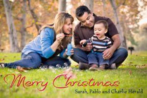 Custom Merry Christmas Classic Photo Cards
