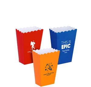 Personalized Mini Boys Birthday Popcorn Treat Boxes