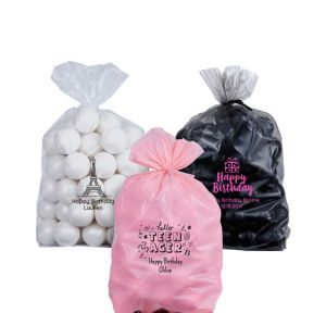 Personalized Small Milestone Birthday Plastic Treat Bags