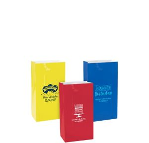 Personalized Mini Birthday Paper Treat Bags