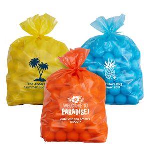 Personalized Medium Luau Plastic Treat Bags