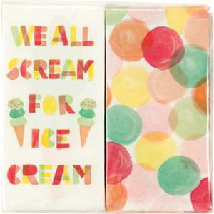 Dots & Ice Cream Napkins Duo Pack 20ct