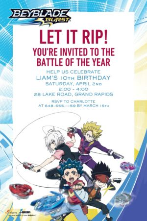 Custom BeyBlade Invitation
