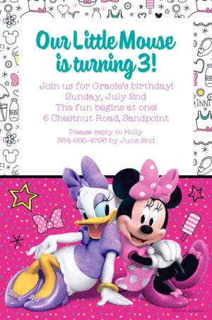 Custom Minnie's Happy Helpers Invitation