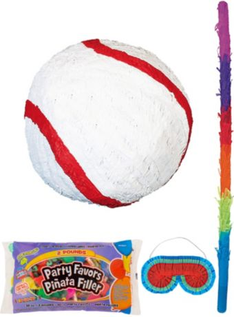 Baseball Pinata Kit with Candy & Favors