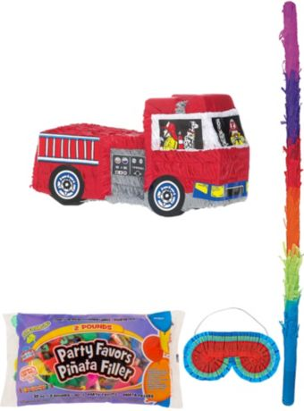 Fire Engine Pinata Kit with Candy & Favors