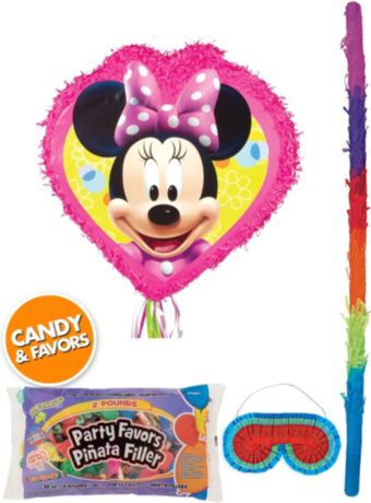 Minnie Mouse Pinata Kit with Candy & Favors