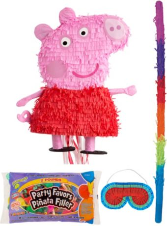 Peppa Pig Pinata Kit with Candy & Favors