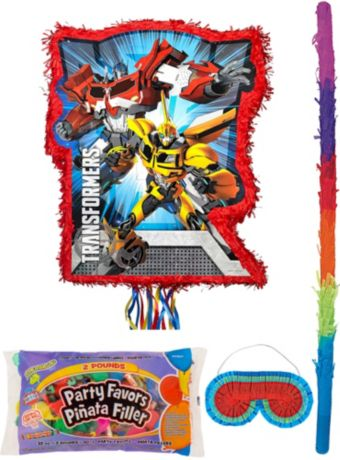 Red Transformers Pinata Kit with Candy & Favors