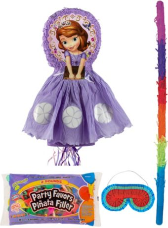 Sofia the First Pinata Kit with Candy & Favors Deluxe