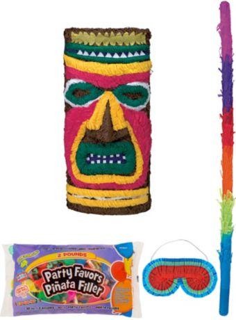 Tiki Pinata Kit with Candy & Favors
