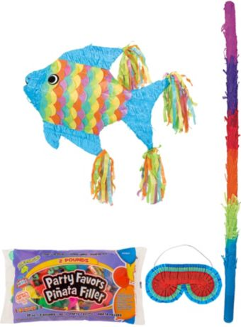 Tropical Fish Pinata Kit with Candy & Favors