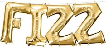 Air-Filled Gold Fizz Letter Balloon Kit