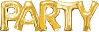 Giant Gold Party Letter Balloon Kit 6pc