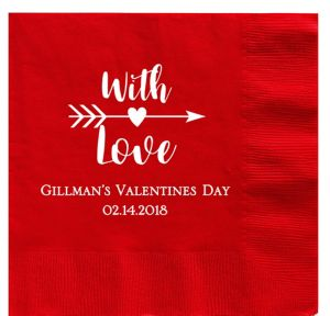 Personalized Valentine's Day Dinner Napkins