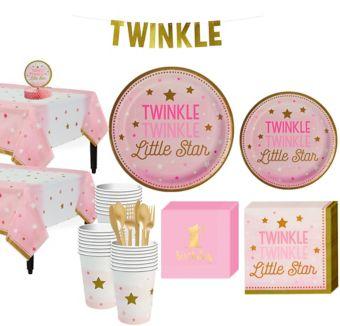 Pink Twinkle Twinkle 32CT Tableware Kit