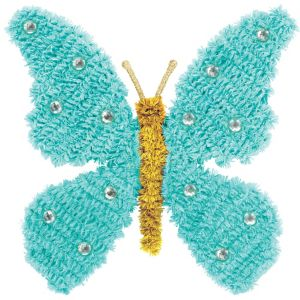 Blue Tinsel Butterfly Sign
