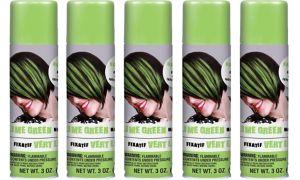 Lime Green Hair Spray 5ct