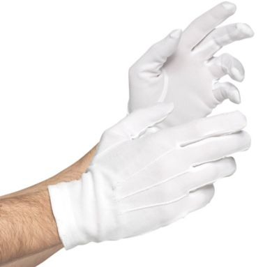 Adult White Gloves Deluxe