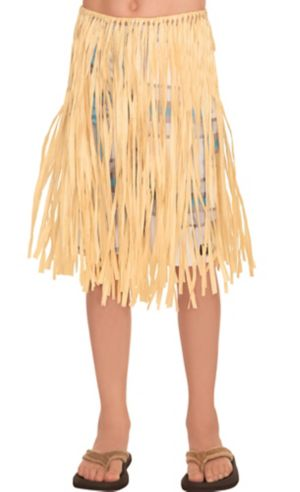 Child Natural Grass Hula Skirt