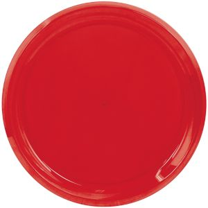 Red Plastic Swirl Platter