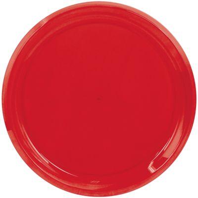 Red Swirl Plastic Platter