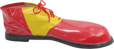 Adult Red and Yellow Clown Shoes Deluxe
