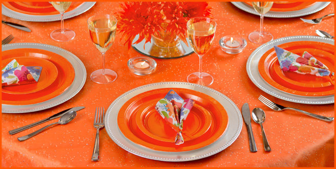 solid orange tableware #2